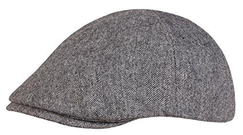Schiebermütze Gatsby Flat Cap aus hochwertiger Wollmischung Grau OneSize