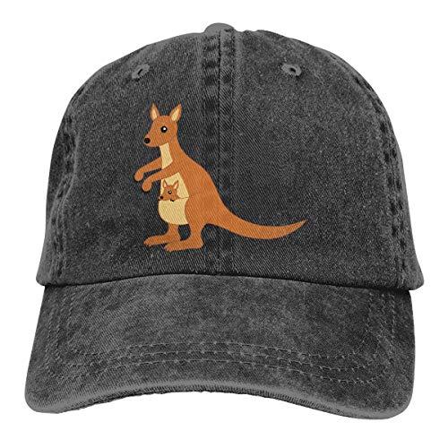 Men's Women's Adjustable Baseball Cap Cute Australia Kangaroo Classic Hat Black ()