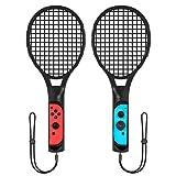 LREGO Tennis Racket for Nintendo Switch, Better Fit Tennis Motion Sensing Games like Mario Tennis Aces - Black
