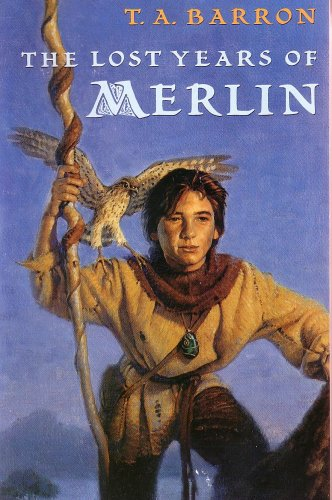 the lost years of merlin, Merlin, King arthur legend, T A Barron, must read, epic fantasy books, high fantasy books, epic reads, goodreads, storytelling, boy, hawk, falcon, book love, am reading, recommended books, book list,