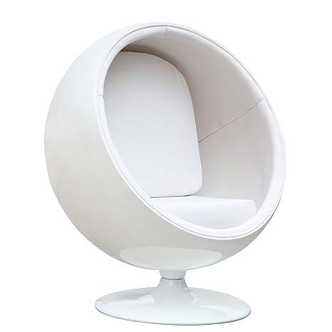 Magnificent Amazon Com Aron Living Globe Lounge Chair White Kitchen Inzonedesignstudio Interior Chair Design Inzonedesignstudiocom