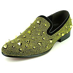 Rhinestones and Spikes Slip on Loafer