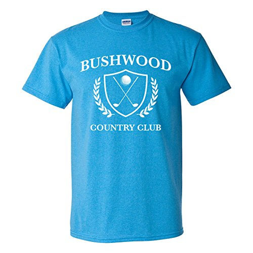 UGP Campus Apparel Bushwood Country Club - Funny Golf Golfing T Shirt - X-Large - Heather Sapphire