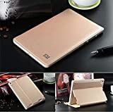 NETBOON Xiaomi Mi Pad 2 Classic PU Leather Stand Smart Flip Cover Case with Magnet Function For Mi Pad 2 - Gold