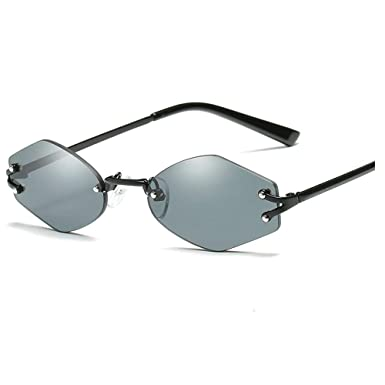 616a1b8be4 Retro Women Small Oval Sunglasses Eyewear Vintage Sun Glasses Metal Frame  UV400 (black)