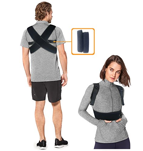 Posture Corrector for Women and Men to Prevent Slouching, Stretch Neck, Straighten Back, Relieve Pain and Provide Clavicle Support | Adjustable Kyphosis Back Brace with Free Comfort Pads in Size L
