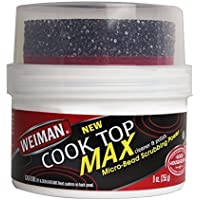 Weiman Cooktop Cleaner Max with Micro-Bead Scrubbing Pad (9oz)