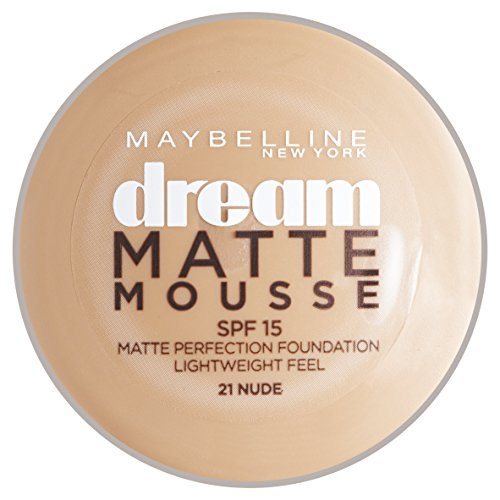 Maybelline New York Dream Matte Mousse Foundation Nude (021) ()