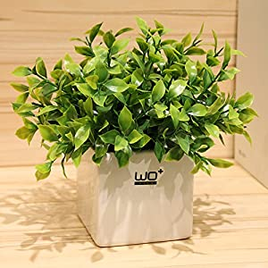 Emulation flower kit artificial flowers leave grass green foliage plant clover floral furnishings potted miniature landscapes 22×25cm 86
