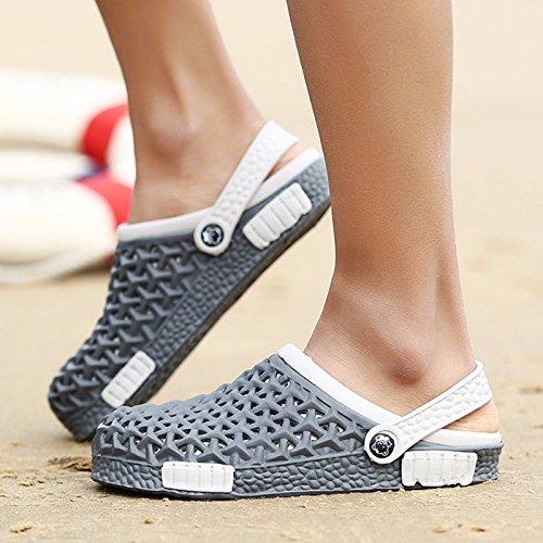 Buco scarpa Uomini estate Il nuovo Uomini sandali tendenza Antiscivolo personalità estate traspirante sandali Spiaggia scarpa ,grigio,US=9,UK=8.5,EU=42 2/3,CN=44