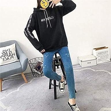 Donna Felpa con Cappuccio Felpe Invernale Sciolto Spesso Ragazza Tumblr Manica Lunga Stampa di Lettere Hoodie Sweatshirt Sportive Pullover Tumblr Cappotto Giacca Donna OGGID