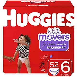 Huggies Little Movers Diapers, Size 6, 52 Ct