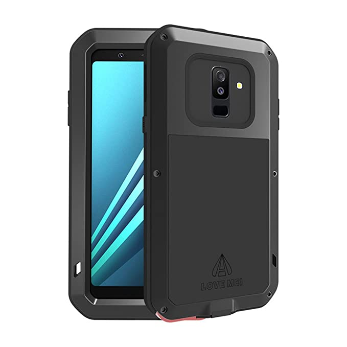 newest d26ec 9c620 Galaxy A6 Plus 2018 Case,Bpowe SM-A6+ Armor Tank Aluminum Metal Gorilla  Glass Shockproof Military Heavy Duty sturdy Protector Cover Hard Case for  ...
