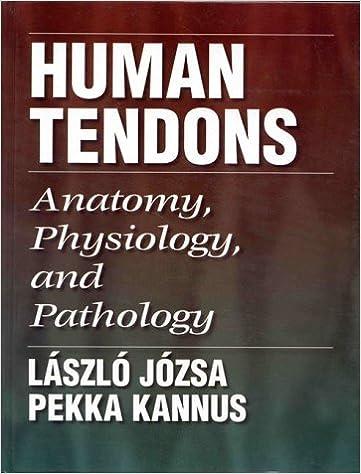 Human Tendons: Anatomy, Physiology, and Pathology: 9780873224840 ...
