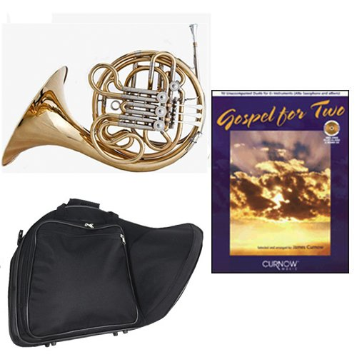 Band Directors Choice Double French Horn Key of F/Bb - Gospel For 2 Play Along Pack; Includes Intermediate French Horn, Case, Accessories & Gospel For 2 Play Along Book by Double French Horn Packs