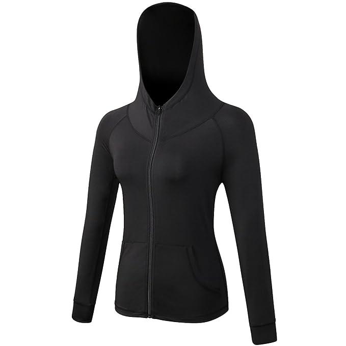 Bmeigo Mujer Sudaderas con Capucha Fitness Deportes Coat Track Suit Workout Jacket: Amazon.es: Ropa y accesorios