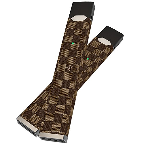 Gucci Louis Vuitton - (Pack of 2 Stickers!) JUUL Skin | JUUL Wrap | JUUL Sticker | Sticker Junkies | Louis Vuitton Brown Leather