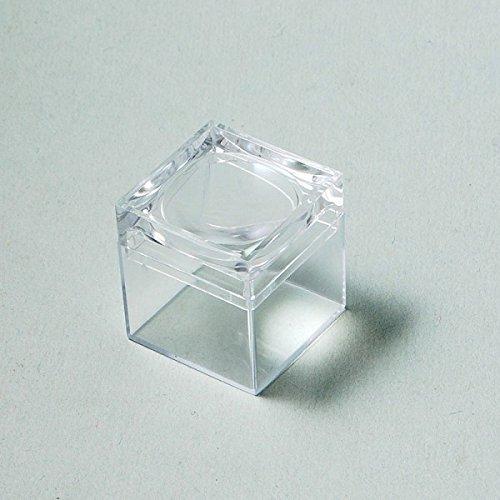 Krantz 10 kleine Lupendosen mit Vergrößerung von ca. 5fach/Plastikdose mit Lupendeckel, 26 x 26 x 29 mm