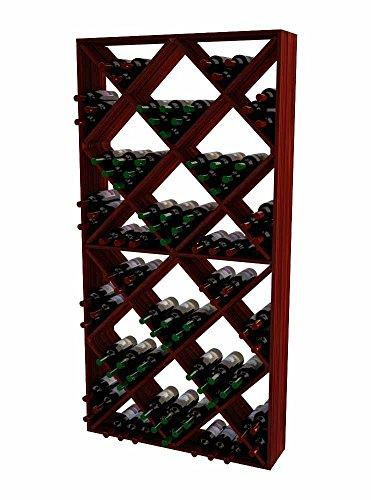 Wine Cellar Innovations TR-CM-SDIAM-A3 Traditional Series Solid Diamond Bin Wine Rack, Premium Redwood, Classic Mahogany Stain