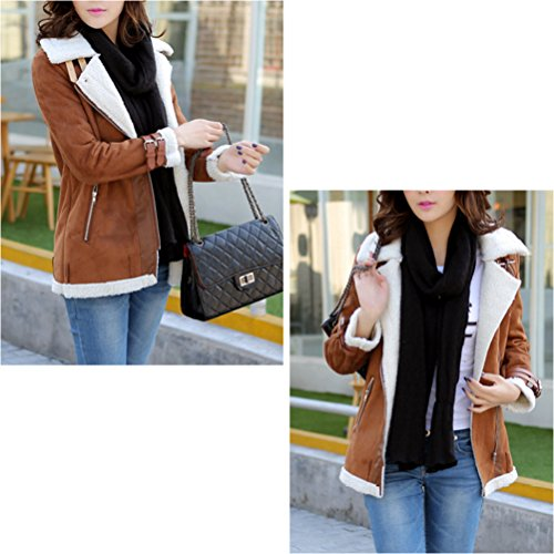 Thick Lined Long Warm et Zhhlinyuan Coffee Lap élégant Chic Keep Fleece Short Jacket Trench Outerwear Padded Coat Cotton HOqXw