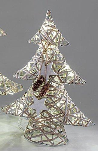 Weihnachtsbaum Rattan.Amazon De Formano Tannenbaum Aus Rattan Mit Led Beleuchtung 40 Cm Weiß