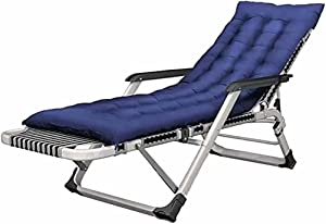 CWYSJ Foldable Sun Lounger, Garden Furniture, Camping Deck Chair, Zero Gravity Lounger Recliner, 15-Speed Position Adjustment with Skin-Friendly Cotton pad