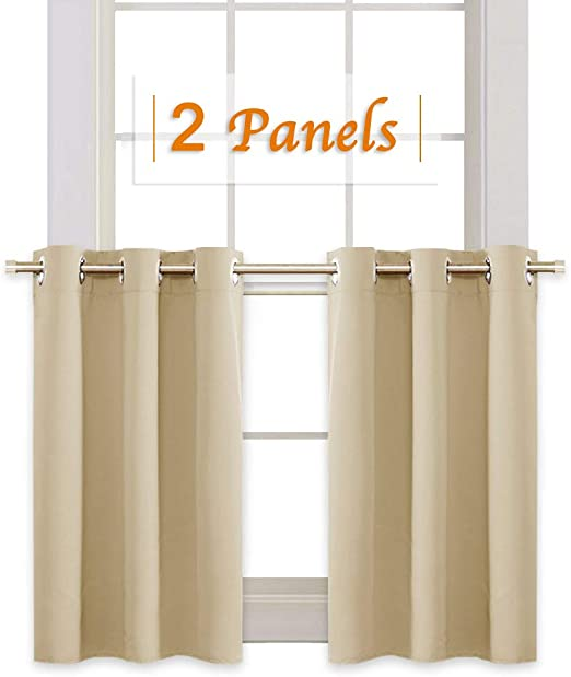 Amazon Com Ryb Home Thermal Insulated Tiers Short Curtains For Living Room Plain Ring Top Small Window Treatment Panels For Office Kitchen 42 In Wide By 36 In Long Biscotti Beige Double Pieces Home,Ikea Customer Service Usa Email