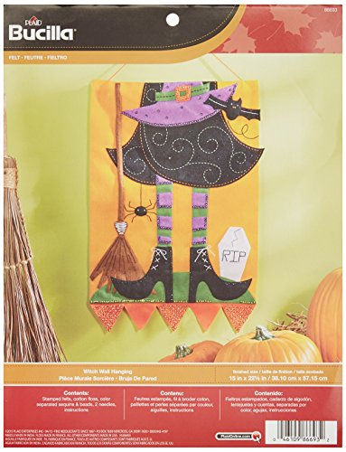 Bucilla Felt Applique Wall Hanging Kit, 15 by 22.5-Inch, 86693 Witch
