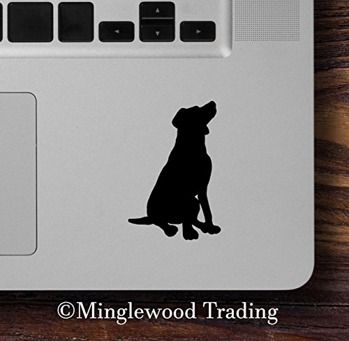 Chocolate Sticker Labrador (Minglewood Trading 2x SITTING LAB 2.5