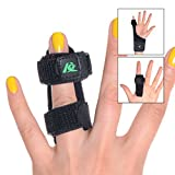 Kangda Trigger Finger Splint for Mallet Thumb Index Middle Ring Pinky Finger Medical Brace Fracture Wound Extension Arthritis Knuckle Joint Pain Relief Adjustable Universal