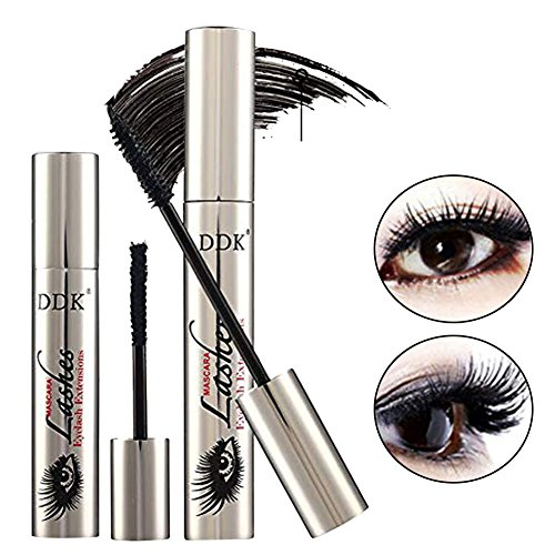 DDK 4D Waterproof Mascara Voluminous Mascara Brush Black Makeup Fiber Lash Eyelash Extension for Women Girls by WAQIA