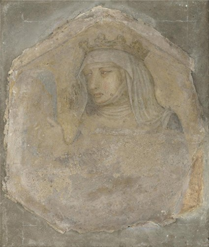 workshop-of-pietro-lorenzetti-a-crowned-female-figure-saint-elizabeth-of-hungary-oil-painting-12-x-1