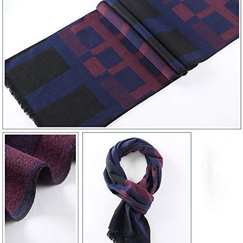 Men's Fahison Vinatage Printed Oblong Scarf Wraps180Cm32Cm