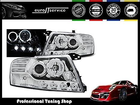 /06/ANGEL EYES nero I08 Shop Import Coppia di fuochi Fari Mitsubishi Pajero V60/01/