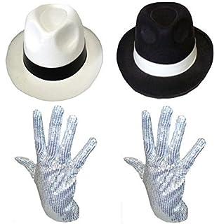 Cappello Michael Jackson bianco con nastro nero  Amazon.it  Giochi e ... edcfdedf126f