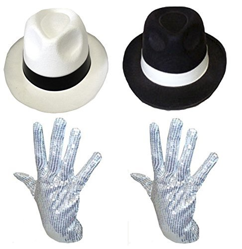 NEW ADULT MICHAEL JACKSON Pop Gloves GANGSTER FANCY DRESS