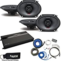 Alpine Two Pairs Of R-S68 5x7/6x8 Speakers, a MB Quart ZA2-1600.4 4-Channel Amp & Wire Kit