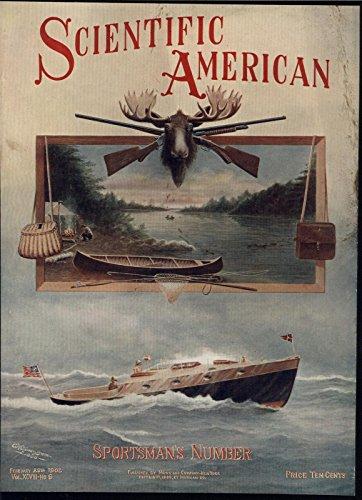 Sportsmans Trophy - Sportsman Hunting Trophy Motor Boating Rifle 1908 antique scientific color print