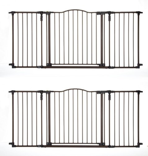 North States Deluxe Decor Baby/Pet Metal Gate - Matte Bronze