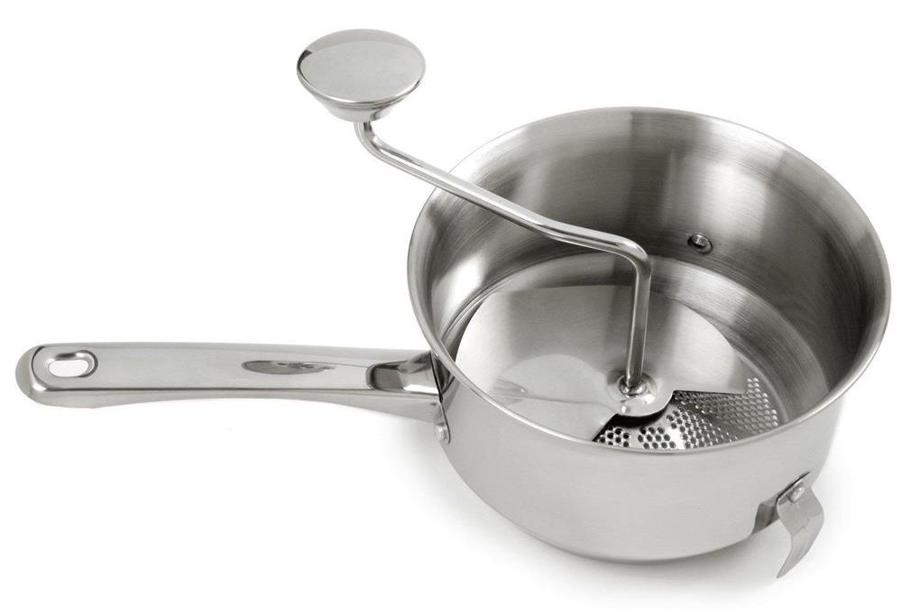 Kitchen Tools Food Mill 18/10 Stainless Steel 2Qt Ricer, Strainer, Masher