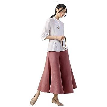 KSUA Ropa de algodón para Mujer, Estilo Oriental, Budista ...