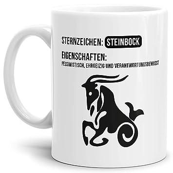 9de8f4e92cd Tasse mit Design ?Sternzeichen Steinbock - Kaffeetasse/Mug/Cup - Qualität  Made in
