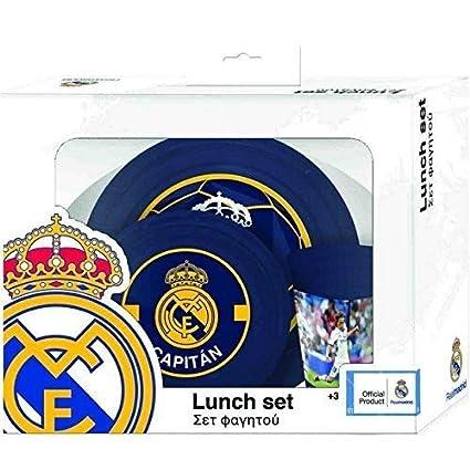 Set de 3 piezas Conjunto de Comidas Oficial FC Real MADRID ...