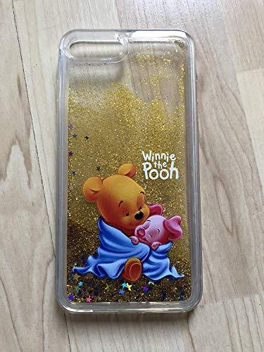 (iPhone 8 Plus, Winnie The Pooh Sparkle Liquid Glitter Quicksand Case For iPhone 8 Plus)