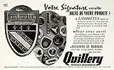 1957 Ad Quillery Renault 54 Rue Veuve Lacroix Styx Lambretta Plastic Industrial - Original Print Ad