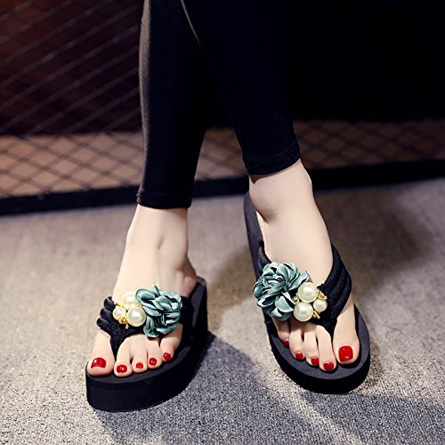 scarpe da spiaggia spesso Estate casual pantofole alto donna fondo flop moda clip FLYRCX b flip antislittamento tacco 6OHTwgxxq