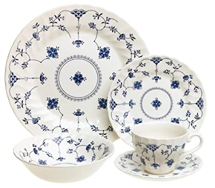 Churchill China Finlandia 20-Piece Dinnerware Set Service for 4  sc 1 st  Amazon.com & Amazon.com | Churchill China Finlandia 20-Piece Dinnerware Set ...