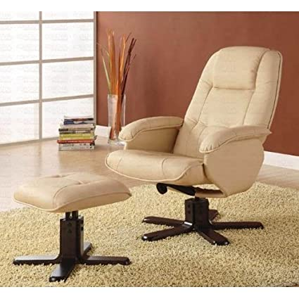 Groovy Amazon Com Lounge Chair With Ottoman In Ivory Bonded Pdpeps Interior Chair Design Pdpepsorg