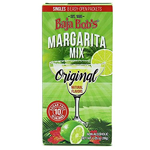 Baja Bob's Original Margarita Mix - 10 Single-Serve Packets Makes 10 Individual Margaritas. Authentic Made-from-Scratch Taste. Just Pour Packet Into Water, Add Tequila. Pour Over Ice. Enjoy! - Baja Bobs Margarita Mix