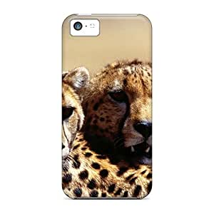 For LastMemory Iphone Protective Case, High Quality For Iphone 5c For My Sweet Cheetah Friend Ramya Ramyadevims Skin Case Cover